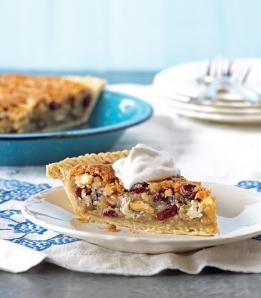 Cranberry choc nut pie